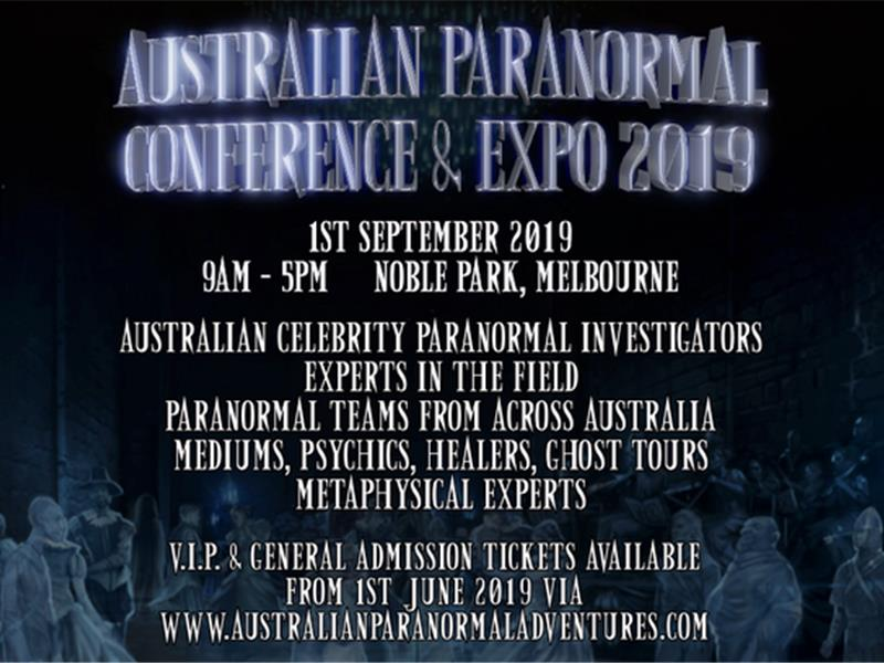 Australian Paranormal Conference & Expo 2019